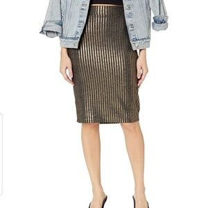 BCBGeneration Striped Metalic Pencil Skirt